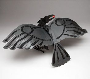 crow/raven open winged